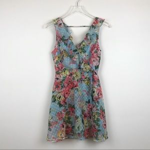 NEW Speechless Floral Ruffle Dot Fit & Flare Dress